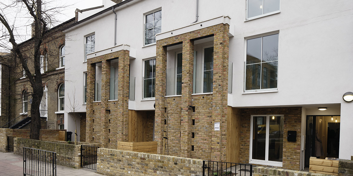 Warmshell Lime Insulation used at Akerman Road for Lambeth Council